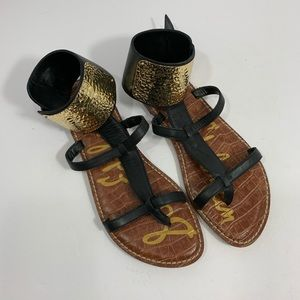 Sam Edelman Genette Gladiator Gold Ankle Cuff sz 7
